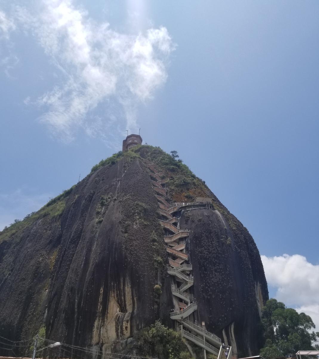 A view of La Piedra, also known as El Penon, in Guatape, Colombia.
