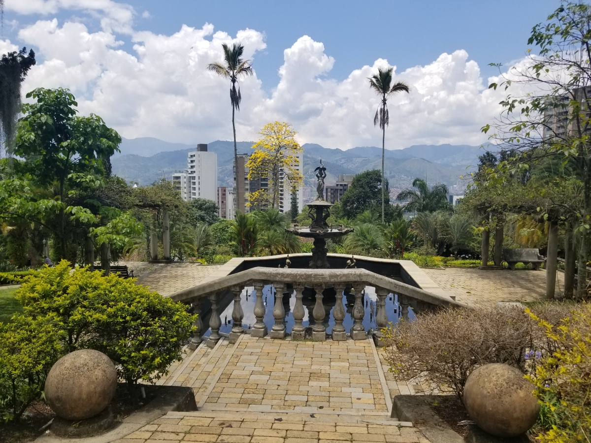 View of the city from Museo el Castillo. Medellin, Colombia