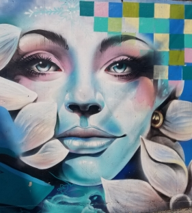 Mural of Woman and Flowers by Marissa Teachable Moments